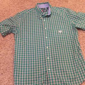 Mens-👕CHAPS - Easy Care Casual Shirt EUC